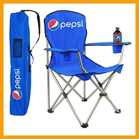 Camping Folding Chair with Carry Bag - Pepsi