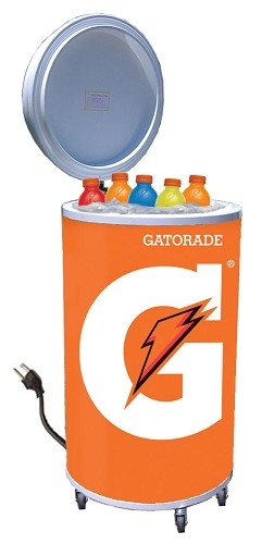 Cooler Fridge on Wheels - Gatorade