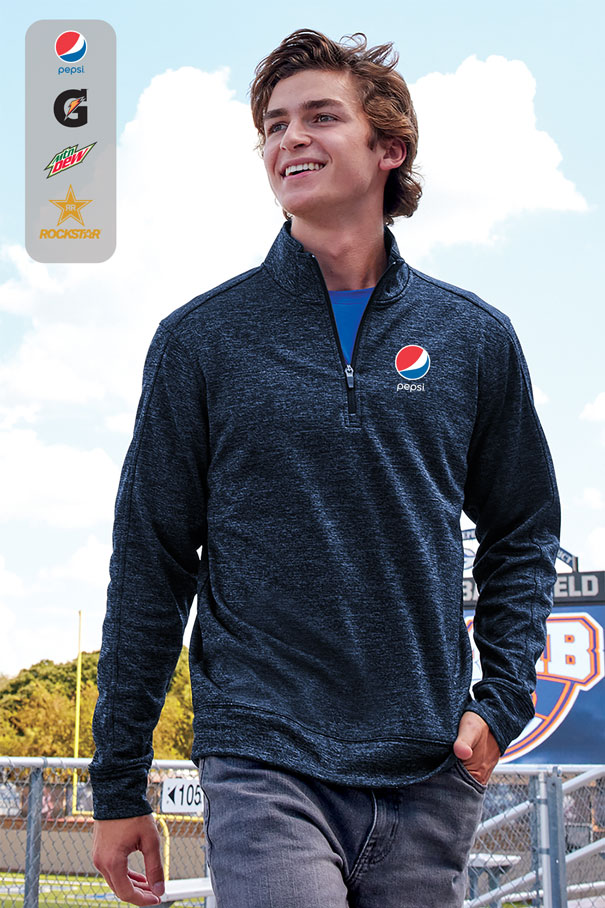 Men's PosiCharge® Electric Heather Fleece 1/4-Zip Pullover