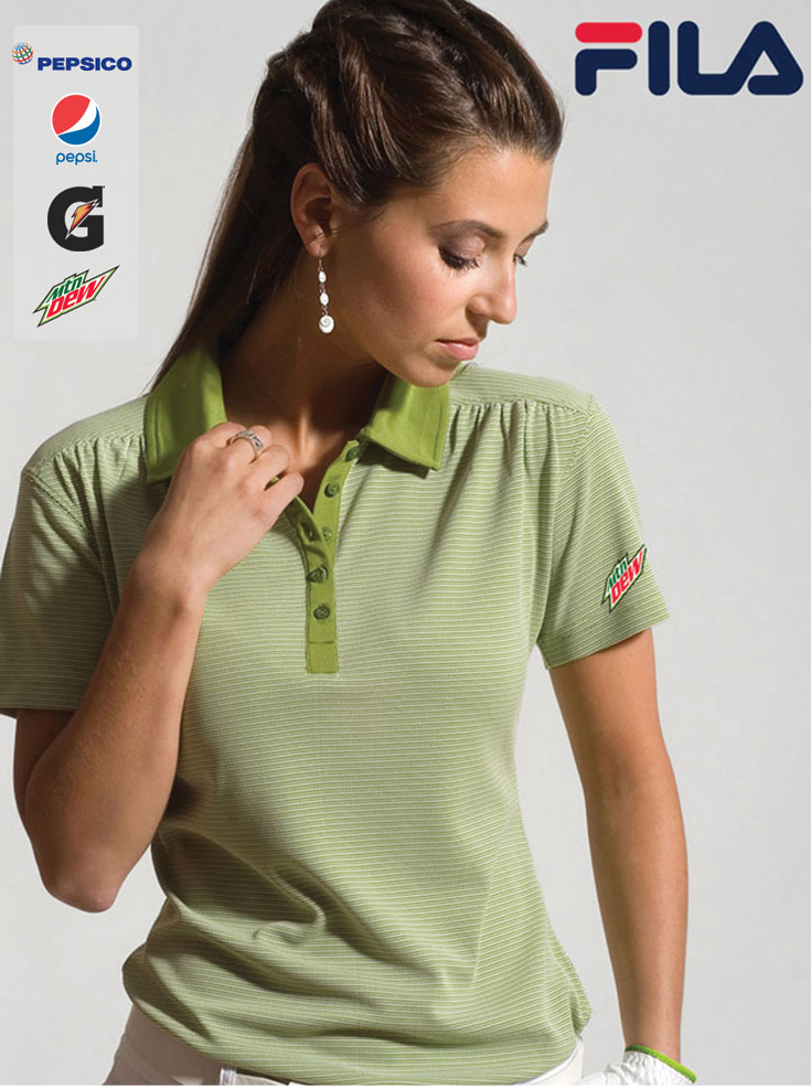 FILA Women's Sussex Textured Striped Polo