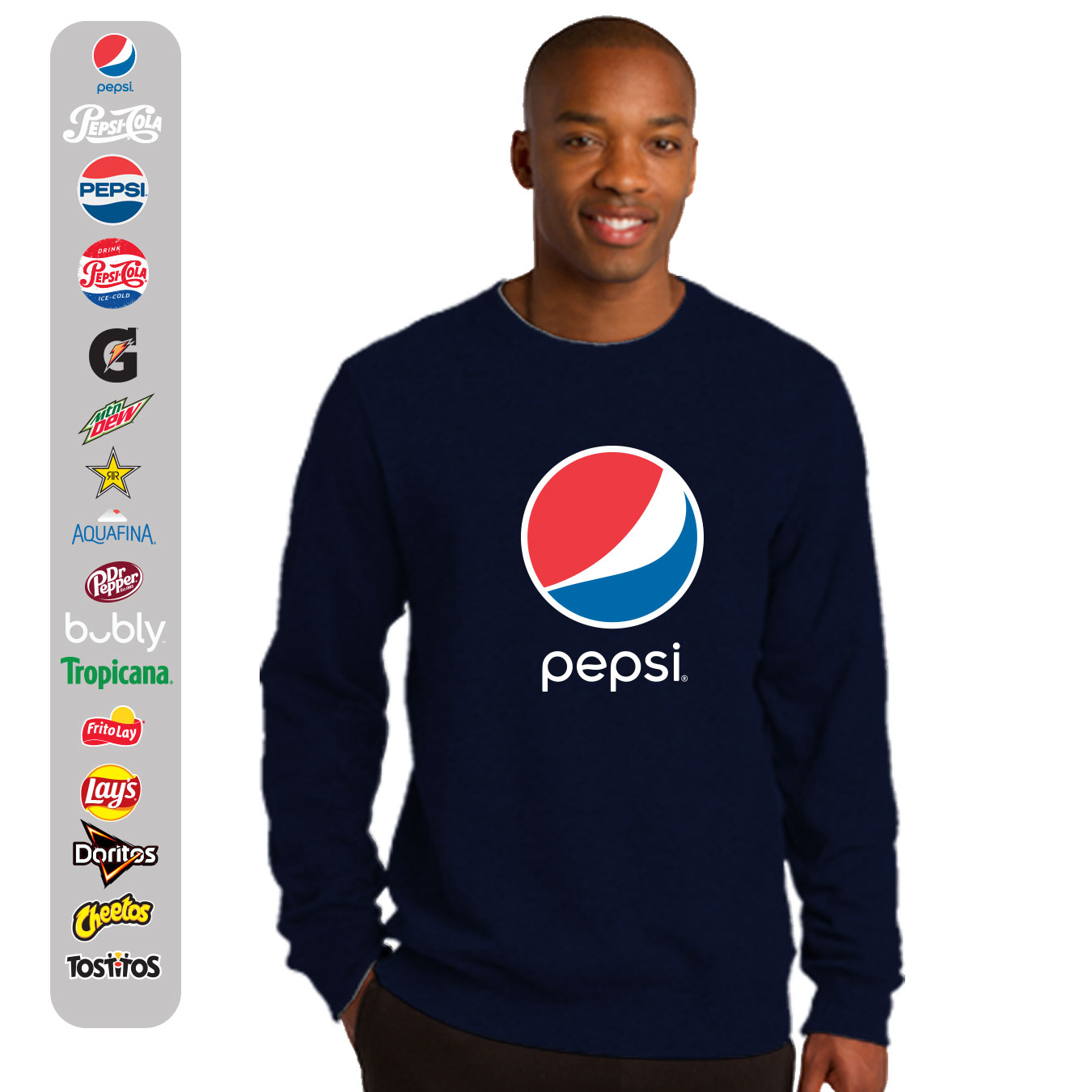 Fleece Crew Neck Sweatshirt - Pepsi