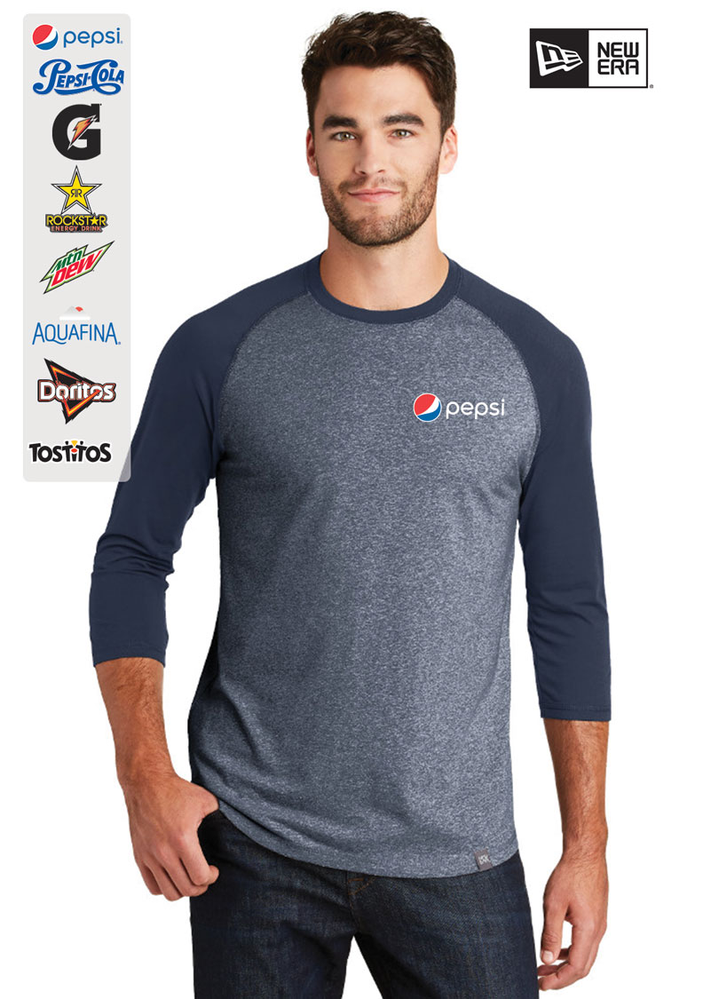 New Era® Heritage Blend 3/4-Sleeve Baseball Raglan T-Shirt