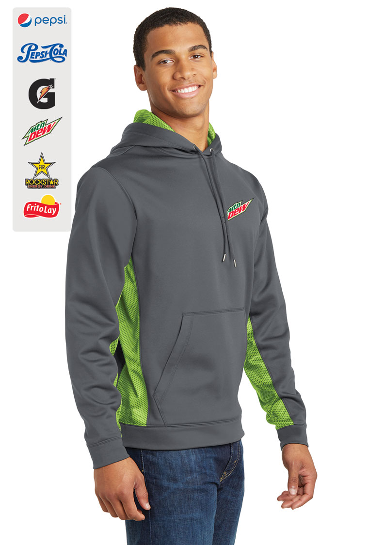 Sport-Tek® Sport-Wick® Hex Fleece Colorblock Hooded Pullover.....Please Login To see our Special Pricing