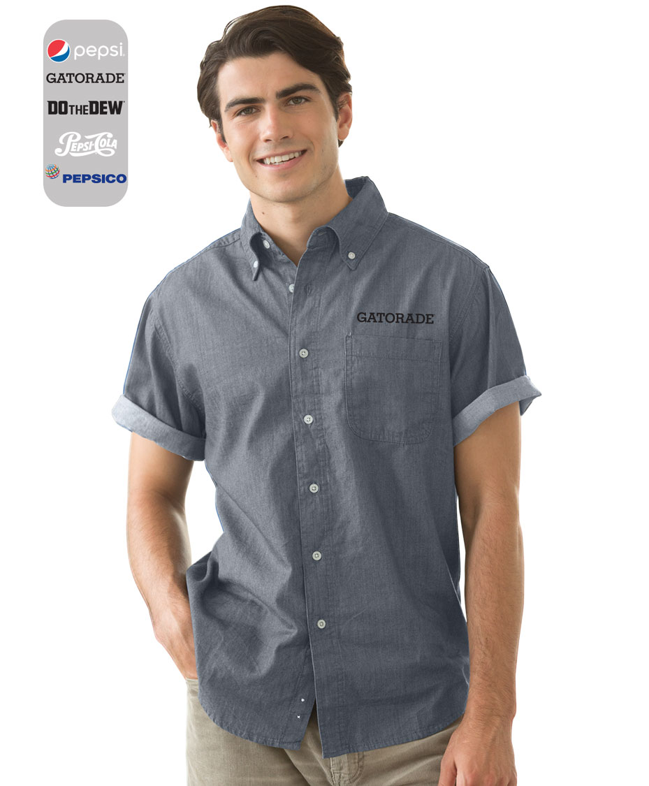 Men's Short-Sleeve Hudson Denim Shirt......Please Login To see our very Special Pricing