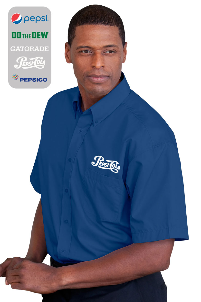 Men's Blended Poplin Short Sleeve Shirt......Please Login To see our very Special Pricing