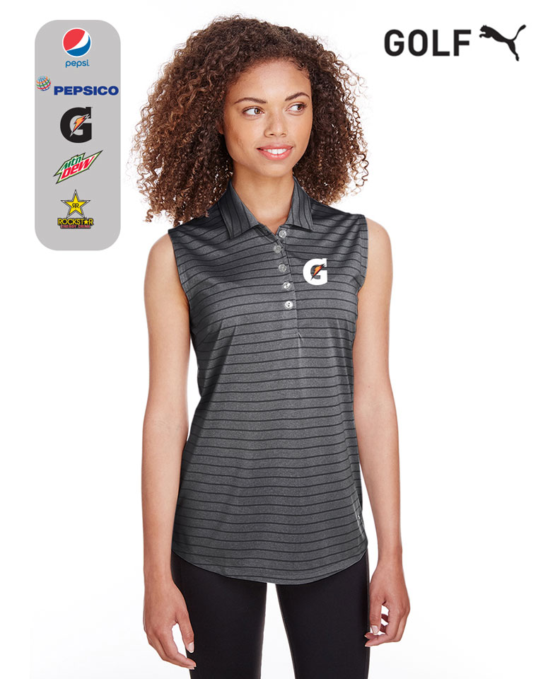 Puma Golf Ladies' Rotation Stripe Sleeveless Polo
