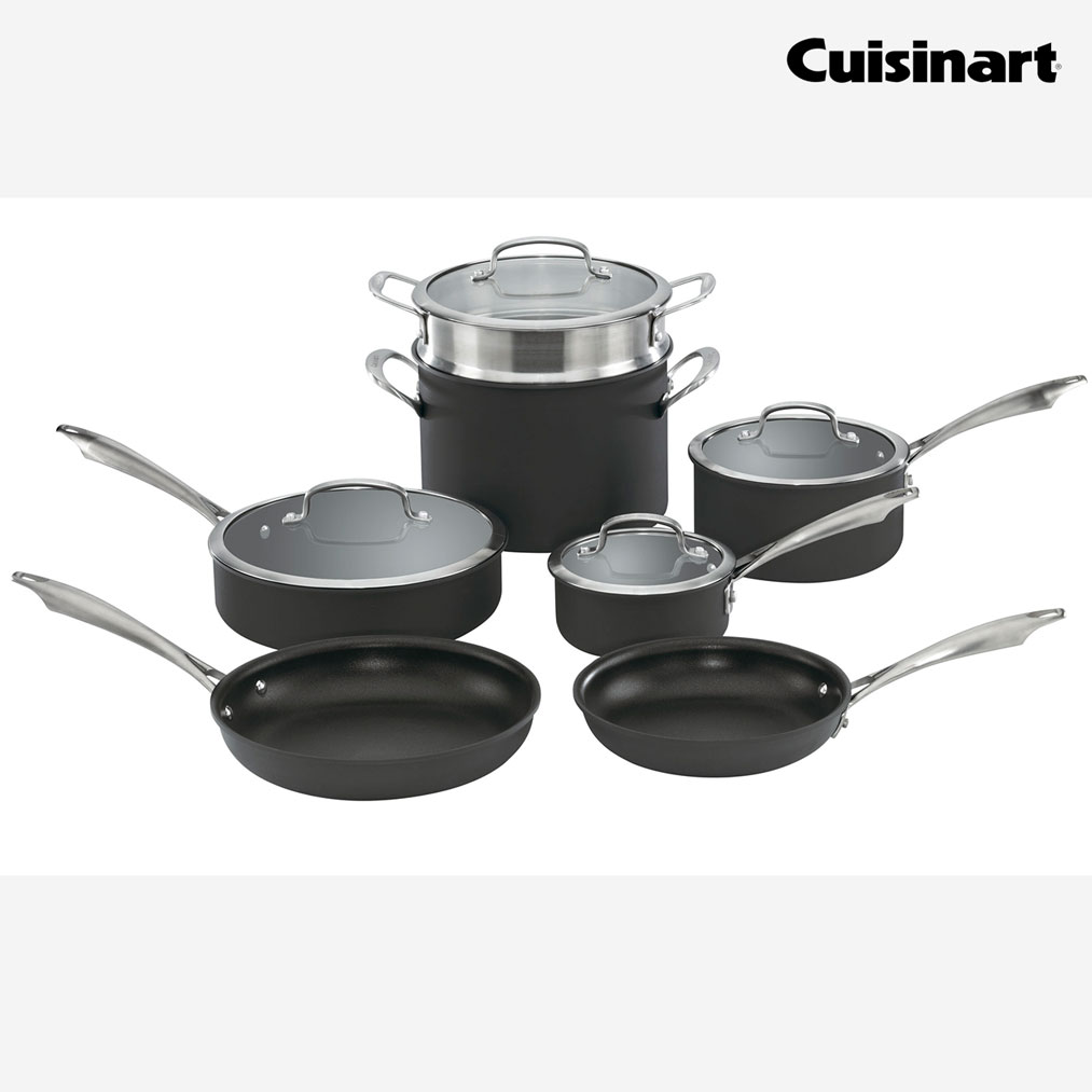 CUISINART Hard Anodized 11 Piece Cookware Set