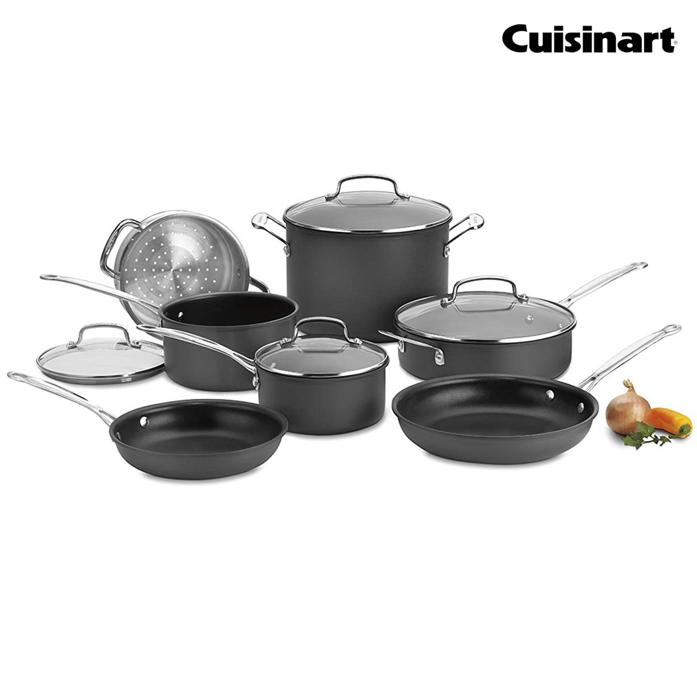 CUISINART Chef's Classic™ Non-Stick Hard Anodized Cookware 11-Piece Set