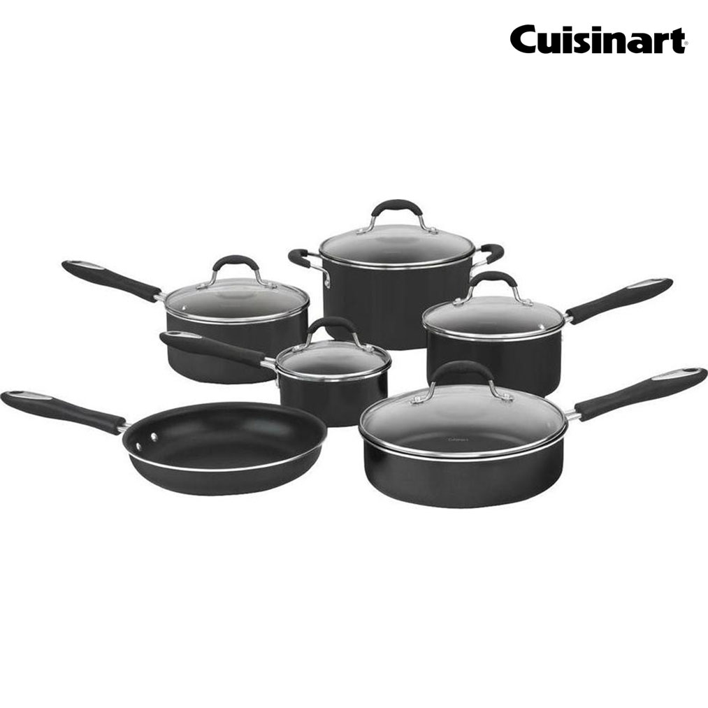 CUISINART  Advantage 11-Pc Cookware Set - Black