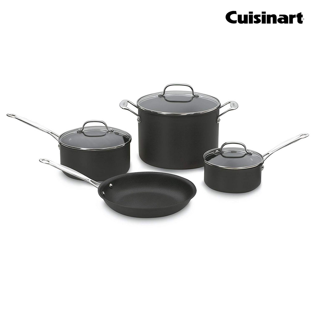 CUISINART Hard Anodized 7-Pc Cookware Set