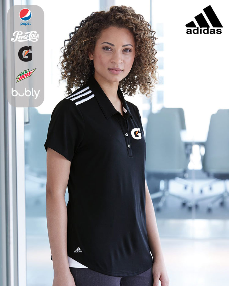 Adidas Women's Climacool 3-Stripes Shoulder Sport Shirt