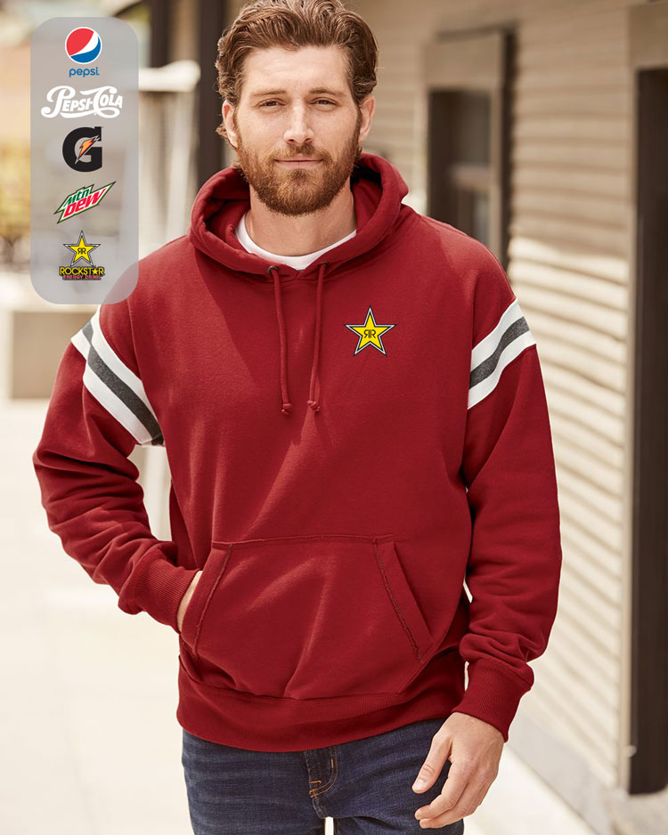 Men's Vintage Athletic Hooded Sweatshirt