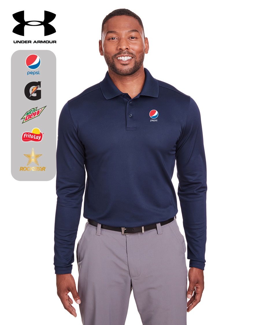 Under Armour Mens Corporate Long-Sleeve Performance Polo