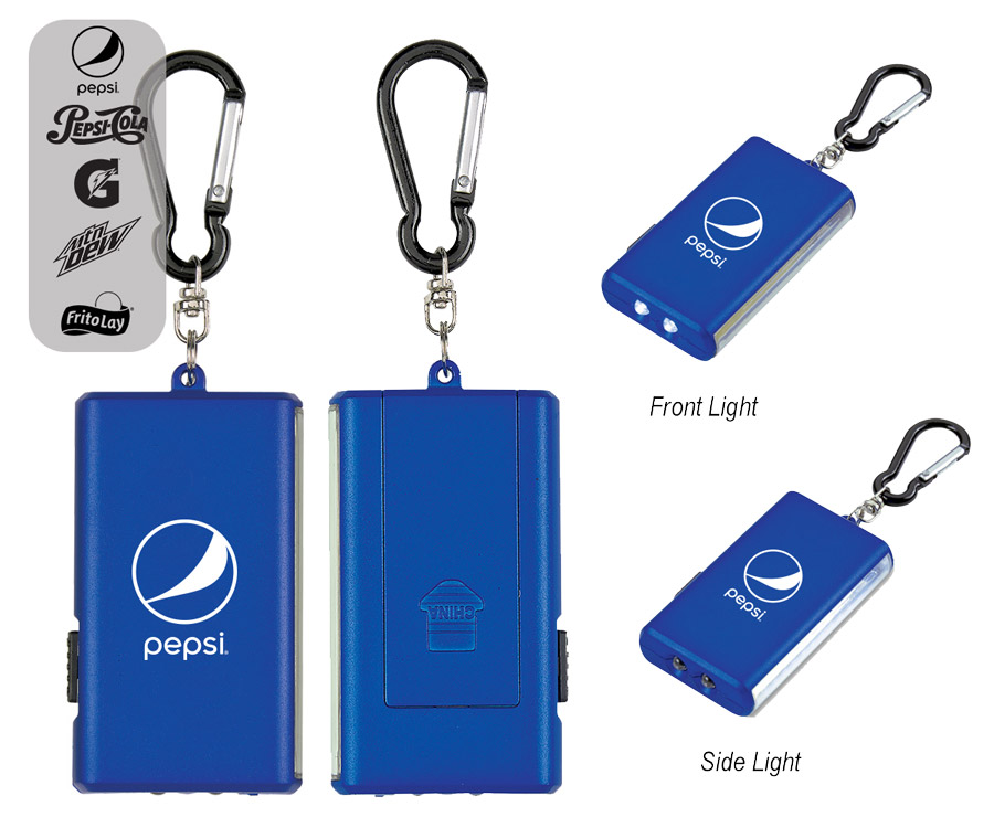 Dual LED/COB Light With Carabiner