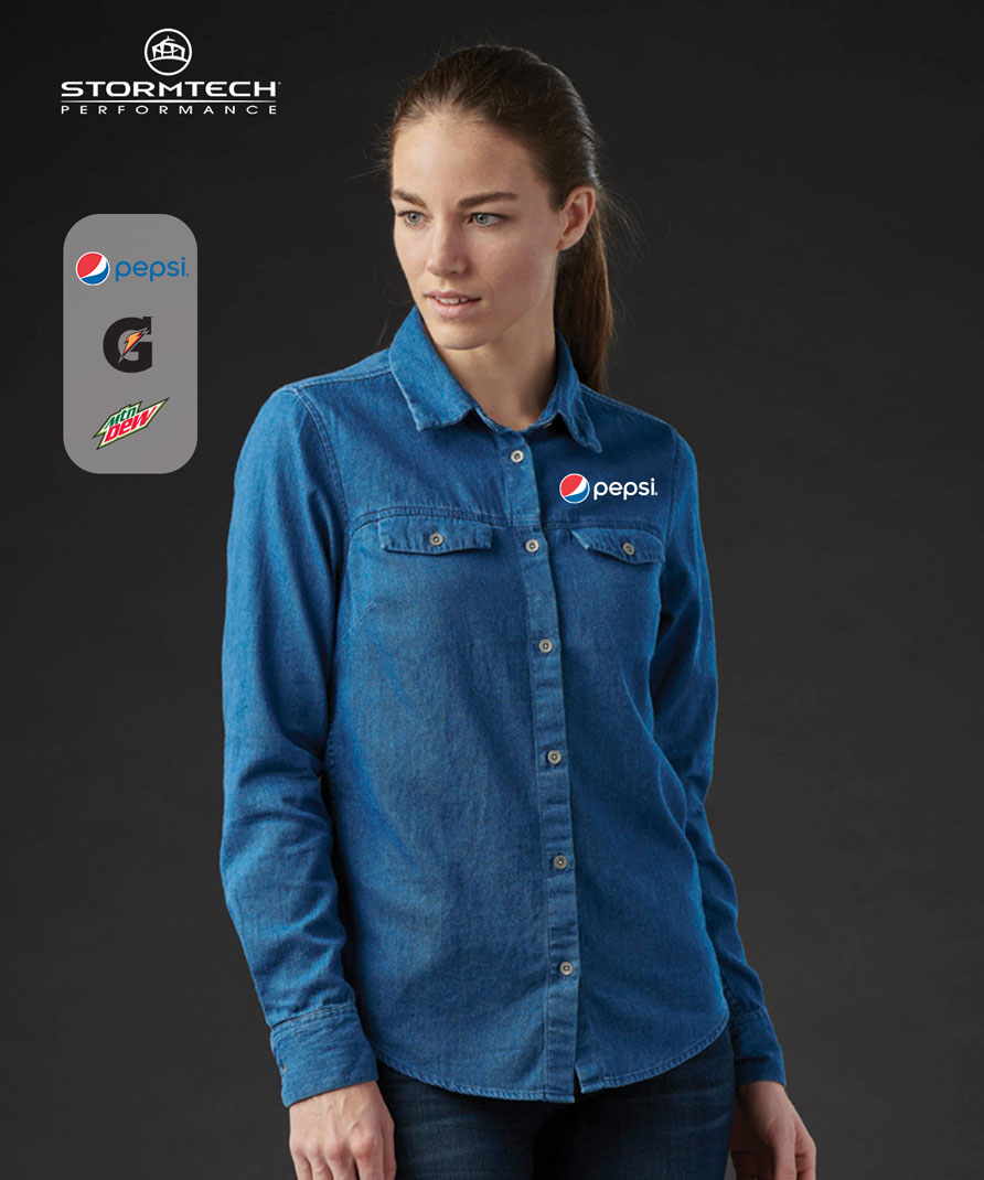 Women's Stormtech Blueridge Denim Shirt