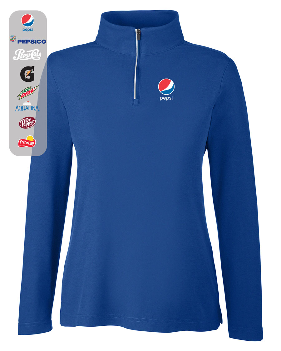 Ladies' Fusion ChromaSoft™ Pique Quarter-Zip