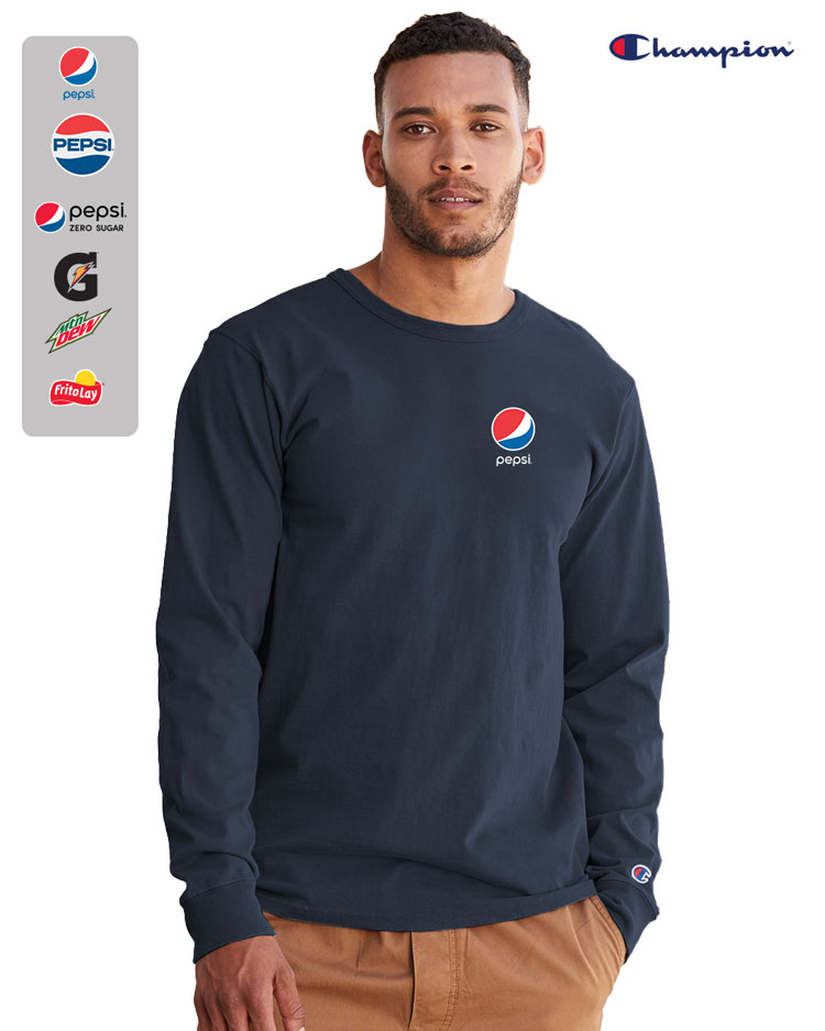CHAMPION Garment Dyed Long Sleeve T-Shirt
