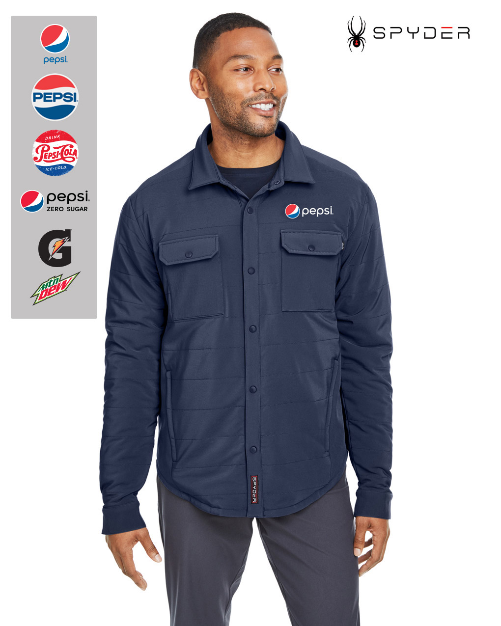 Spyder Adult Transit Shirt Jacket