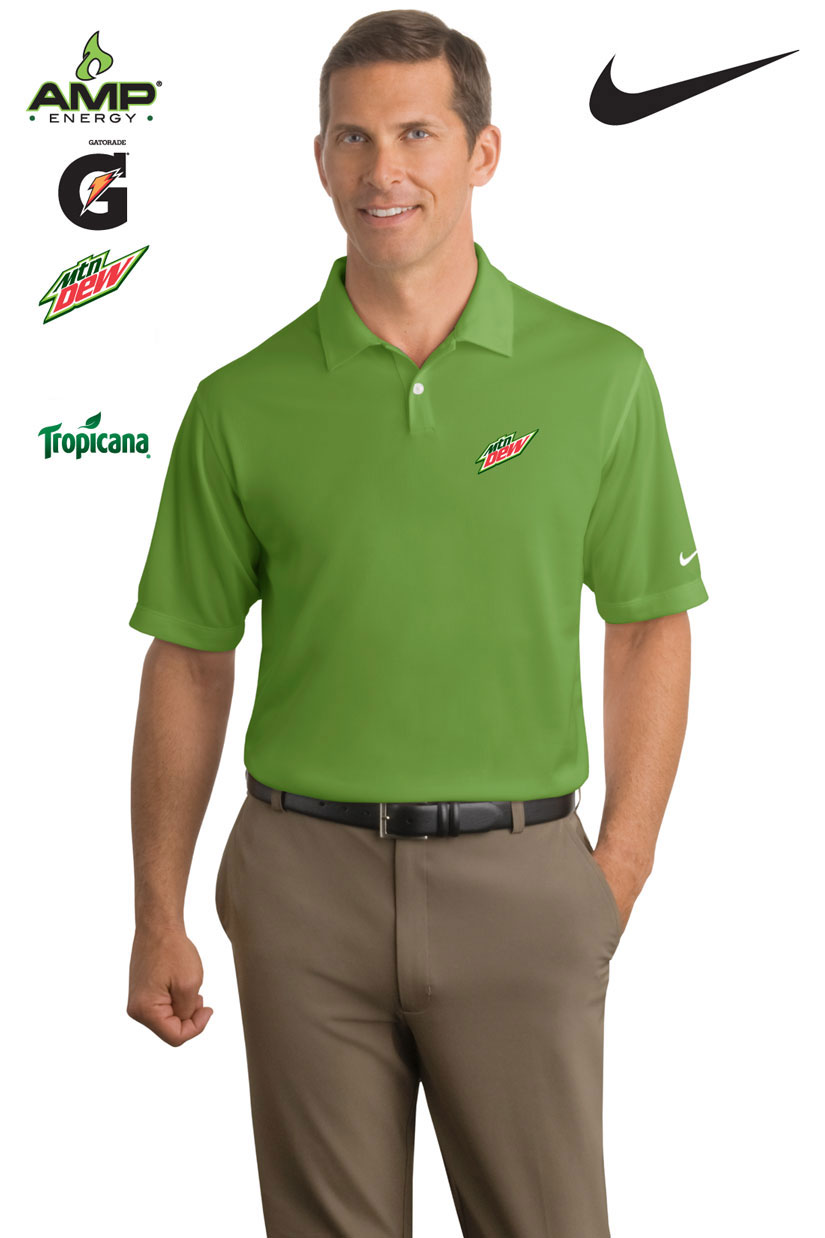 Nike Golf - Dri-FIT Pebble Texture Polo - Men's - Green