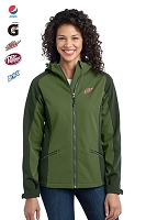 Gradient Hooded Soft Shell Jacket (Ladies')
