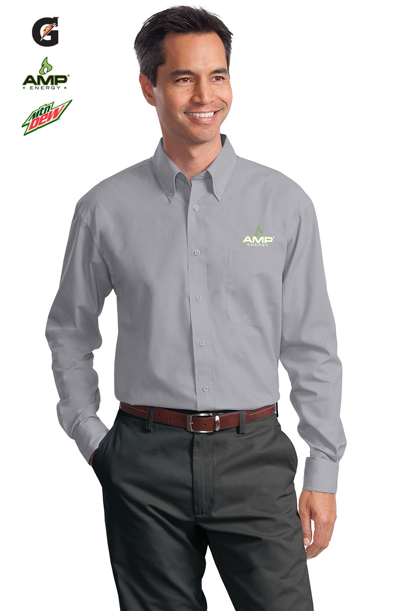 Mens Long Sleeve Value Poplin Shirt