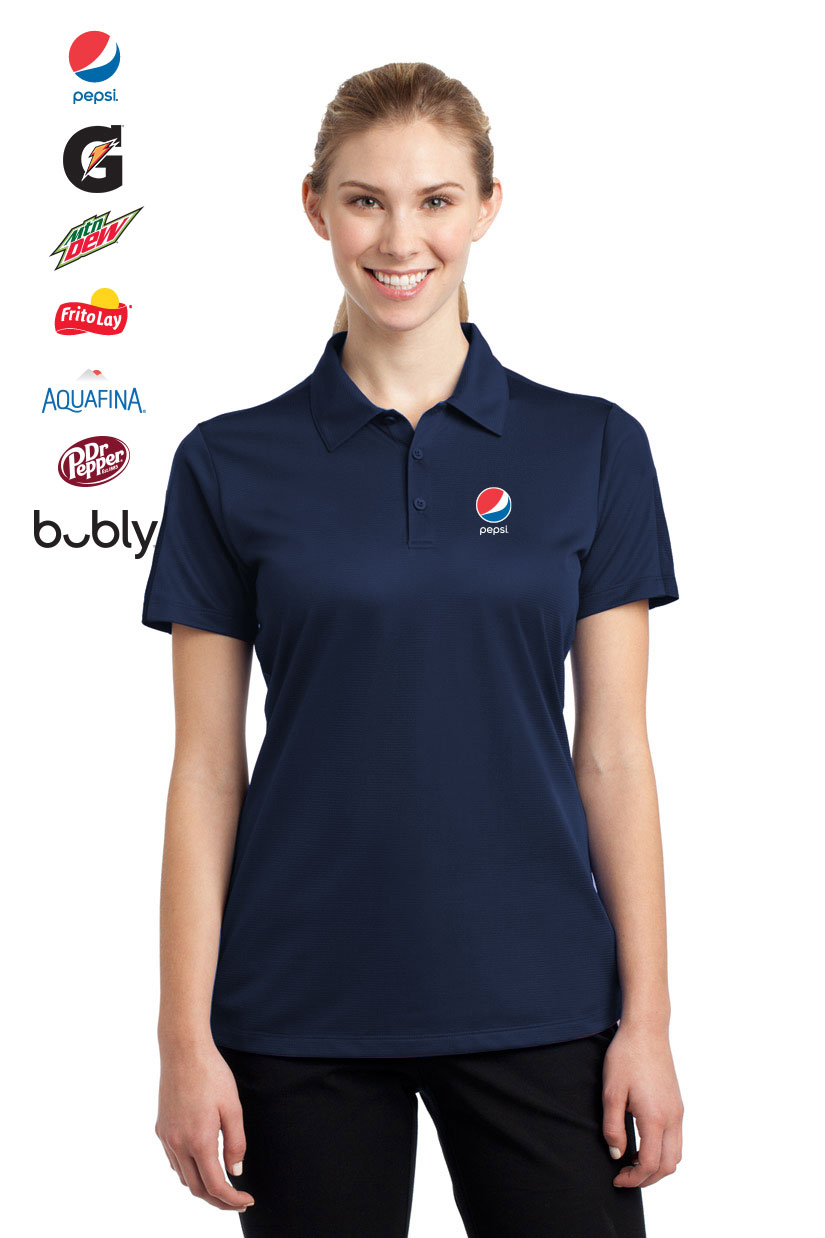 Ladies Active Textured Colorblock Polo
