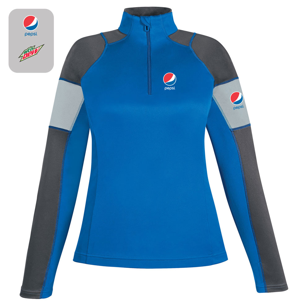 Ladies' Performance Interlock Half-Zip Tops
