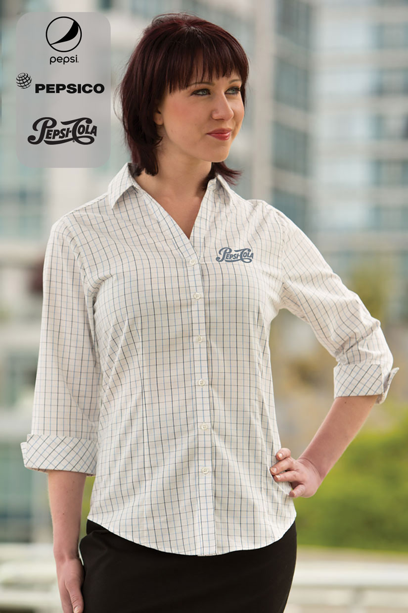 Ladies' Tattersall Check Woven Shirt