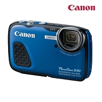 Canon PowerShot D30 12.1MP Digital Camera, Blue