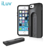 iLuv Selfy Dual Piece Case w/ Remote Shutter - iPhone 5S, Black