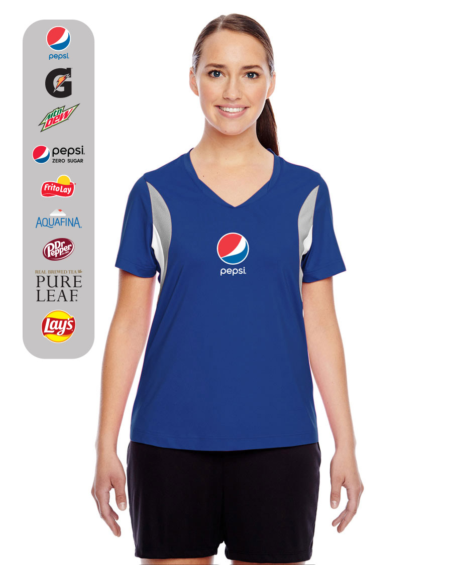 Ladies' Team Spirit Short-Sleeve V-Neck All Sport Jersey Styles T-Shirt