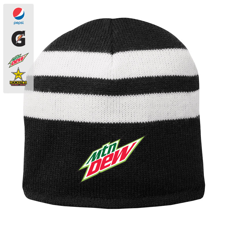 Fleece-Lined Striped Beanie