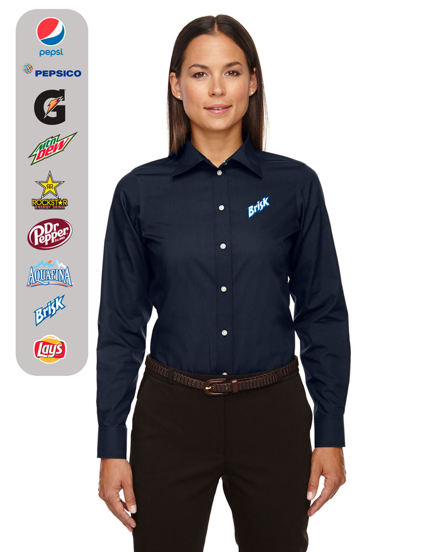 Ladies' Solid Broadcloth Shirt