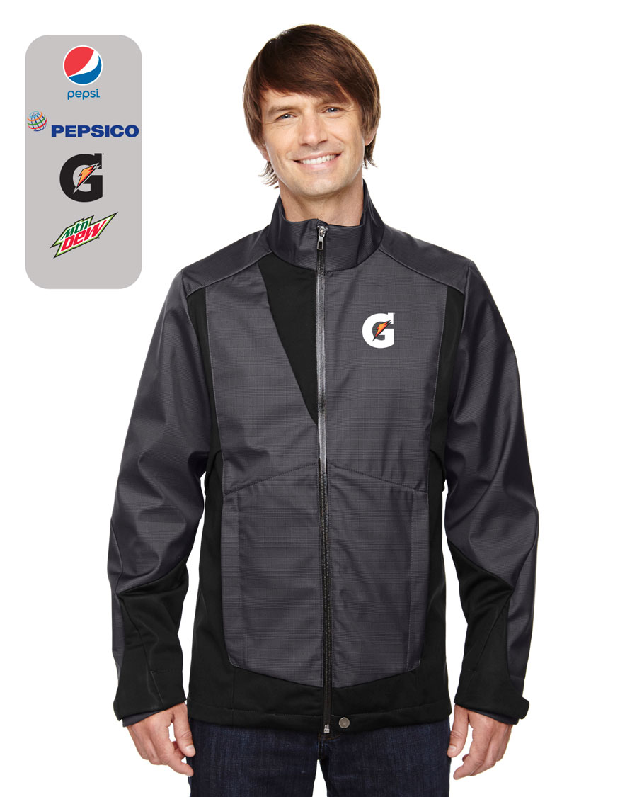Men's Commute Three-Layer Light Bonded Two-Tone Soft Shell Jacket with Heat Reflect Technology