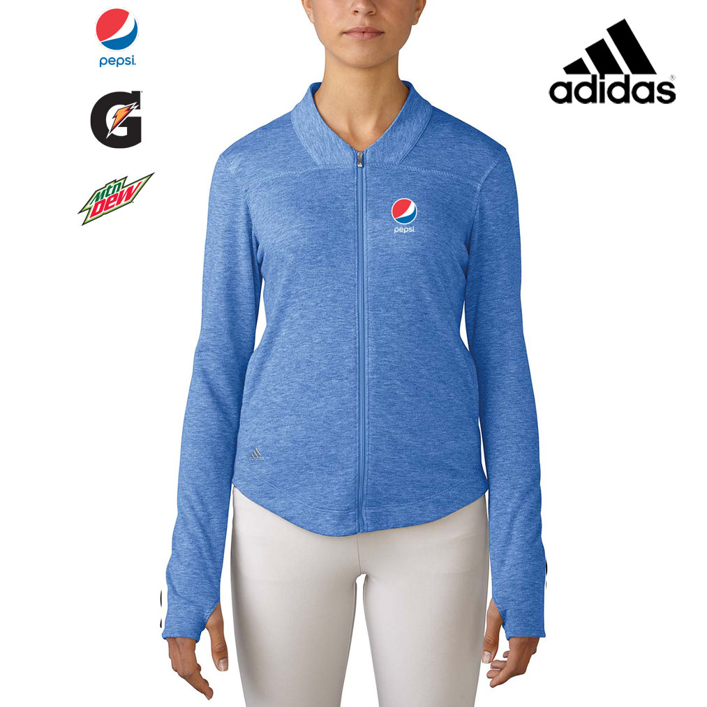 Ladies' Adidas Essentials 3-Stripe Full Zip