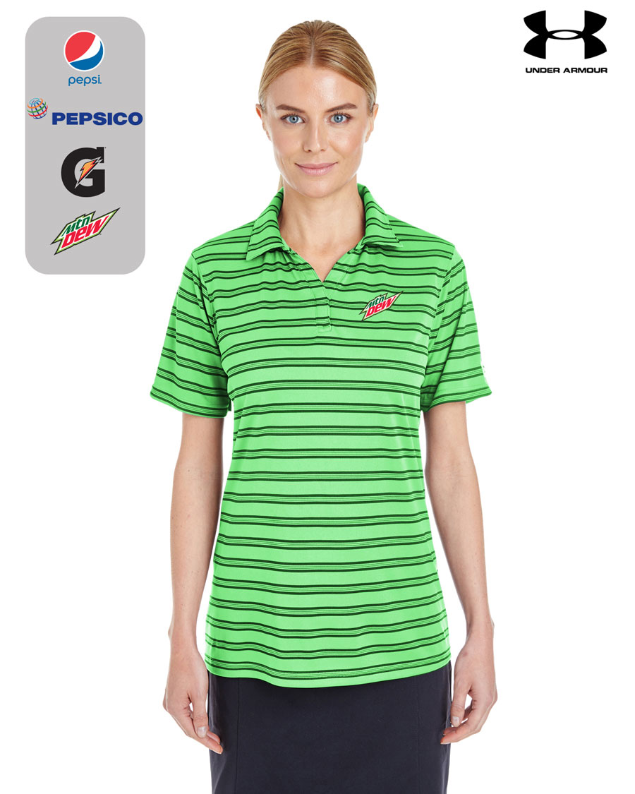 Ladies' UA Corp Tech Stripe Polo