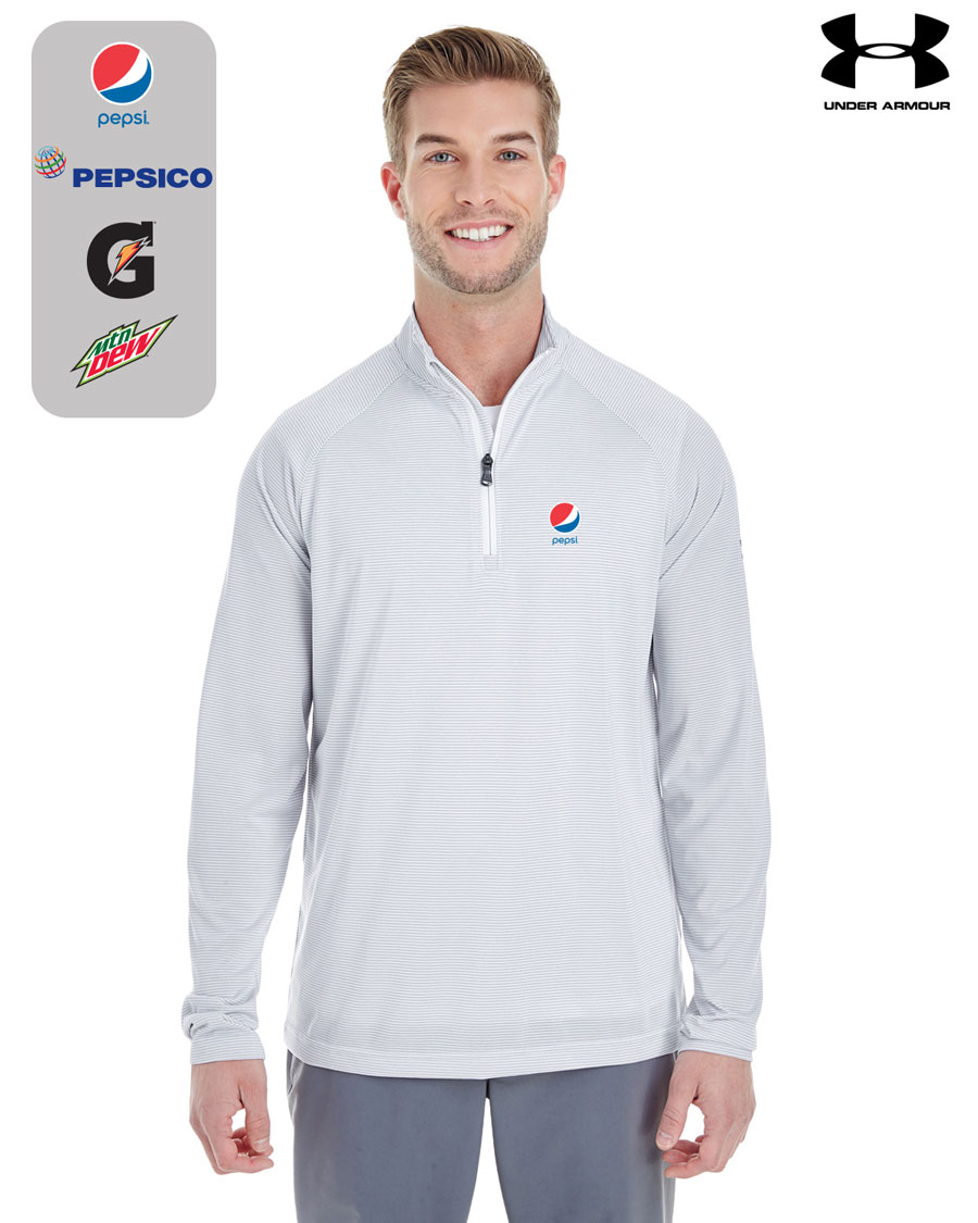 Men's UA Corp Stripe Quarter-Zip Pullover