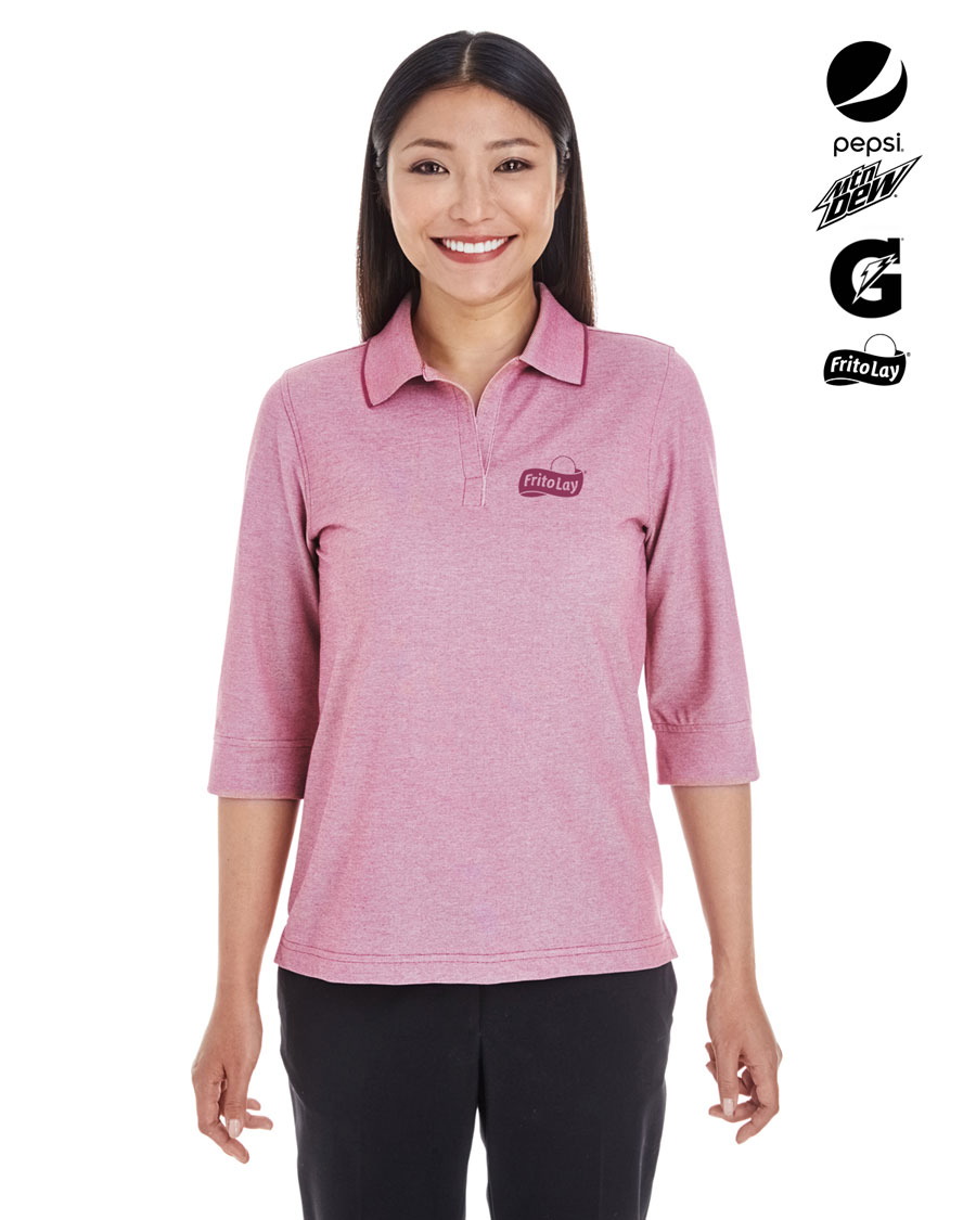 Ladies' Pima-Tech Oxford Pique Polo