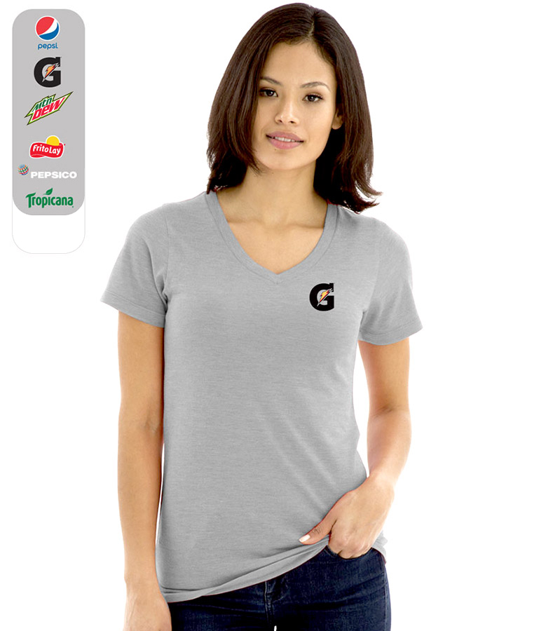Ladies' Tri-Blend V-Neck T-Shirt