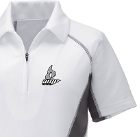 Ladies' Cool Logic Performance Zippered Polo - Amp Energy (Old Logo)