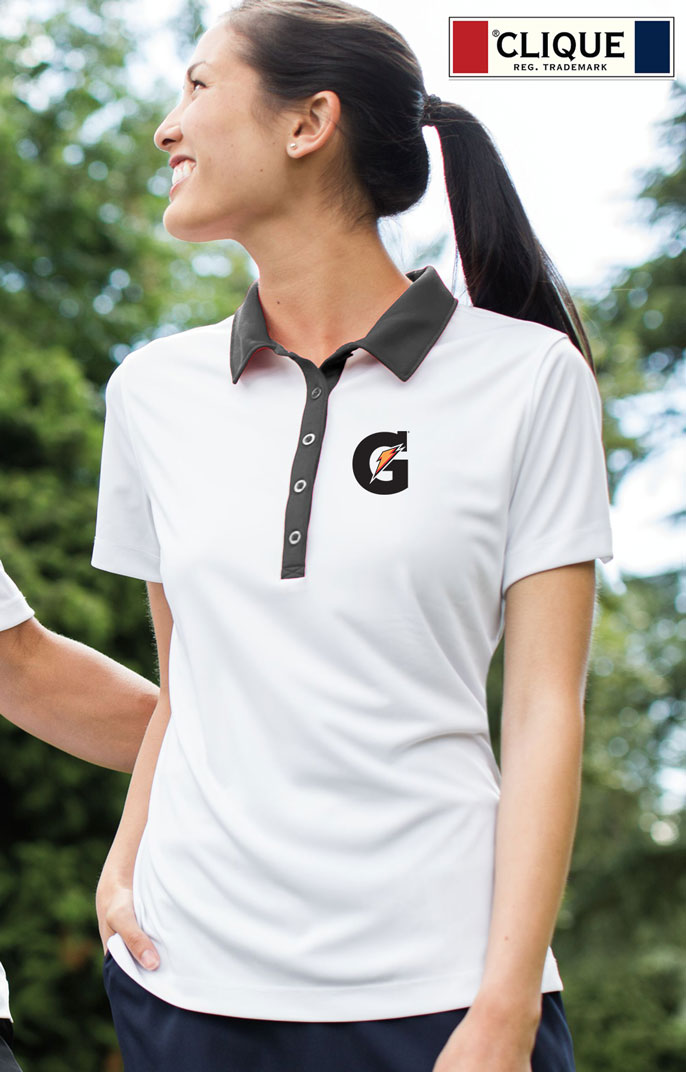 Clique Ladies' Parma Colorblock Lady Polo - Gatorade