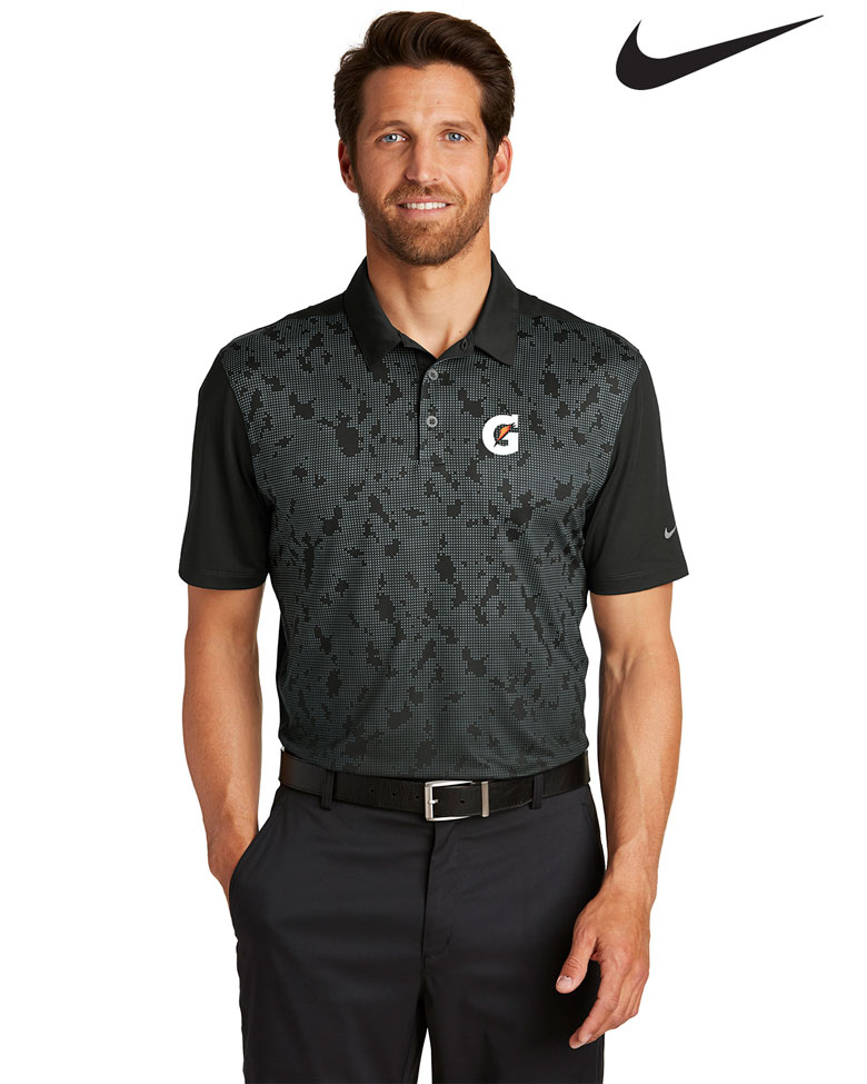 Nike Men's Golf Dri-FIT Mobility Pattern Polo - Gatorade