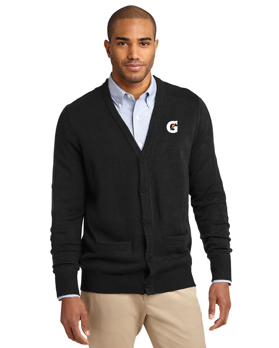 Men's Value V-Neck Cardigan Sweater with Pockets - Gatorade