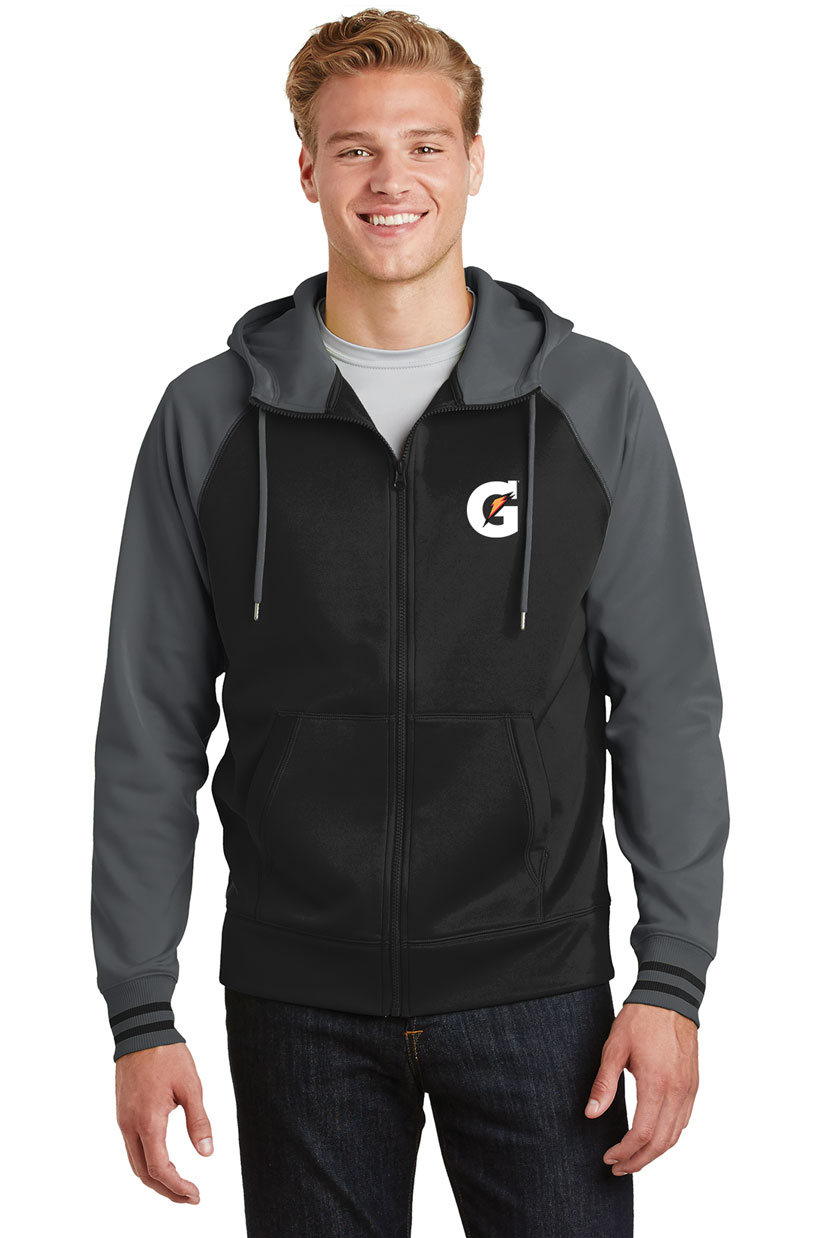 Men's Sport-Wick® Varsity Fleece Full-Zip Hooded Jacket - Gatorade