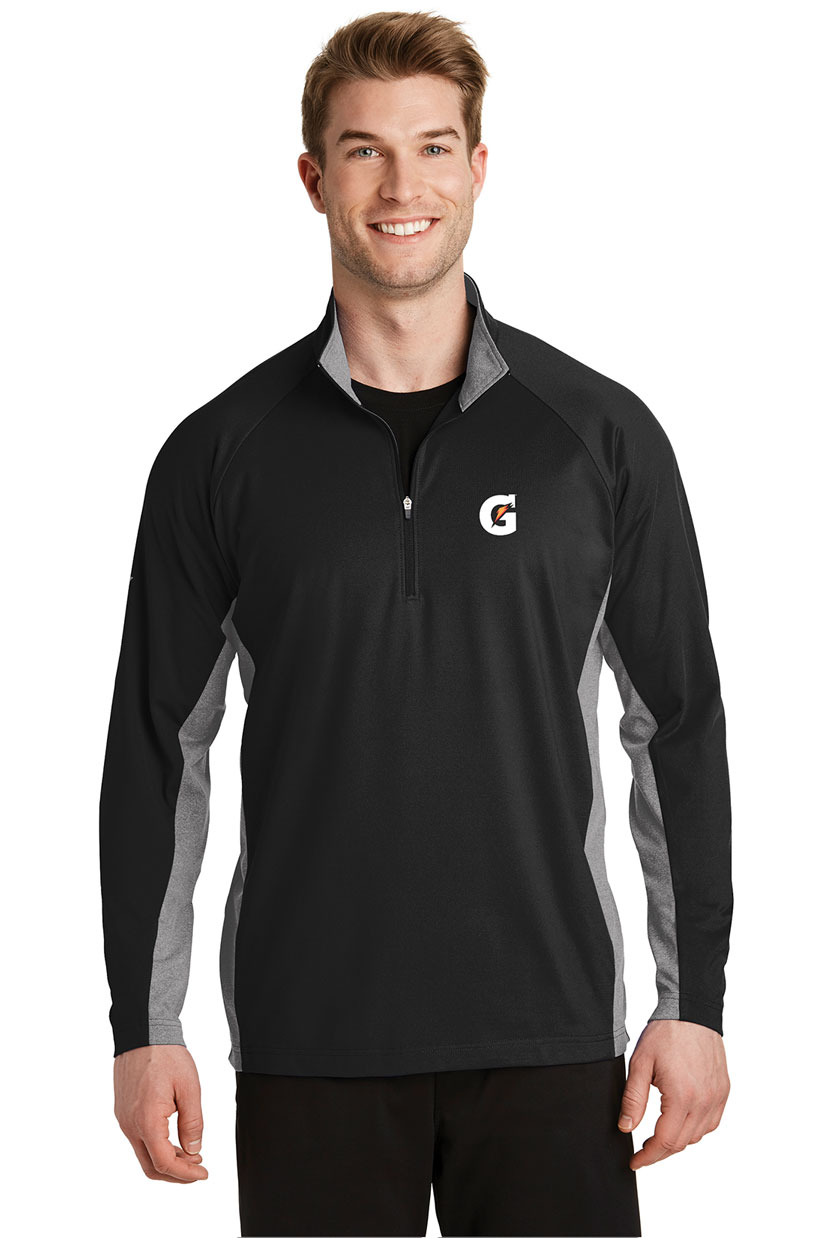 Men's Sport-Wick® Stretch Contrast 1/2-Zip Pullover - Gatorade