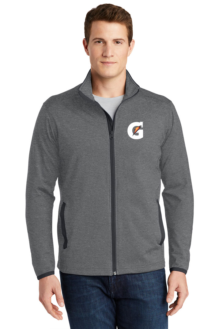 Men's Sport-Wick® Stretch Contrast Full-Zip Jacket - Gatorade