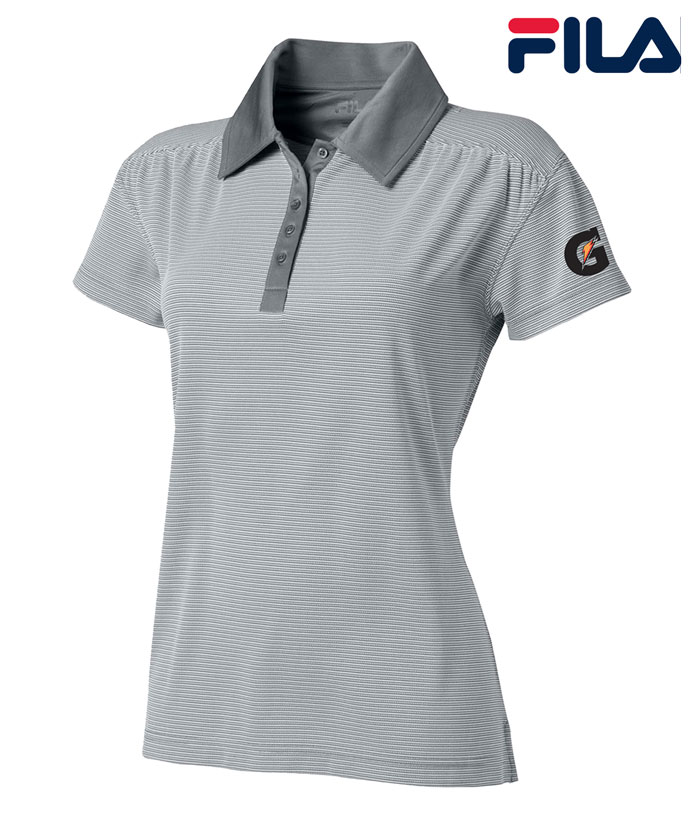 FILA Women's Sussex Textured Striped Polo - Gatorade