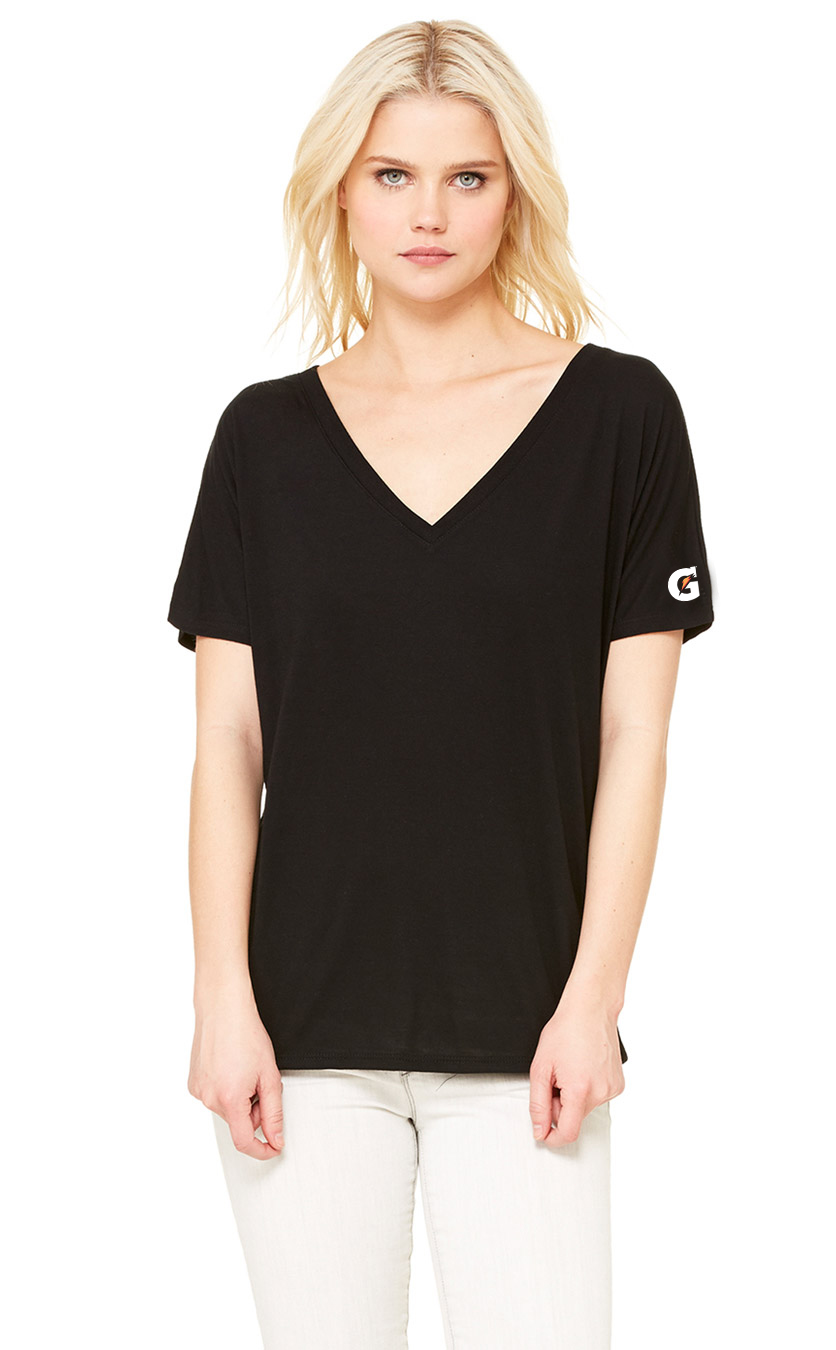 Ladies Slouchy V Neck Tee