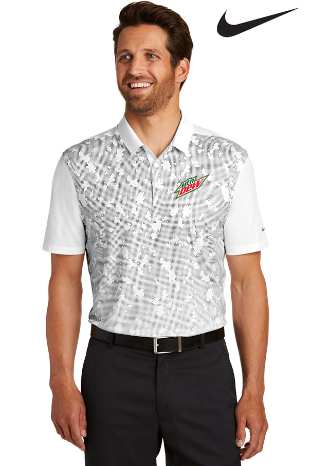 Nike Men's Golf Dri-FIT Mobility Pattern Polo - MTN Dew