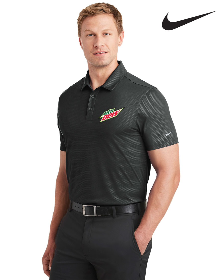 Nike Golf Men's Dri-FIT Embossed Tri-Blade Polo - MTN Dew
